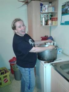 unsere Küchenfee Katrin